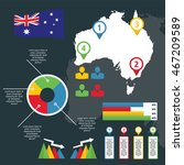infographic of australia with... | Shutterstock .eps vector #467209589