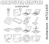outline computer service icons...