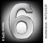 vector 3d metal number... | Shutterstock .eps vector #467212229