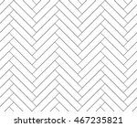 Stock vector black and white simple wooden floor herringbone parquet seamless pattern vector background 467235821