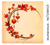 chinese background with lantern ... | Shutterstock .eps vector #467248415