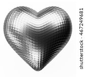 metal heart isolated on white...
