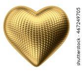 golden heart shape isolated on...   Shutterstock . vector #467249705
