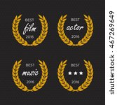 best award vector gold award... | Shutterstock .eps vector #467269649