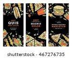 fast food banner or card... | Shutterstock .eps vector #467276735