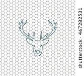 illustration of a deer head... | Shutterstock .eps vector #467282531