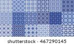 blue tile vector. set of tiles... | Shutterstock .eps vector #467290145
