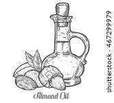 almond nut oil bottle seed... | Shutterstock .eps vector #467299979