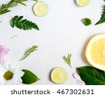 composition of lime  grapefruit ... | Shutterstock . vector #467302631