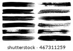 big vector art brush strokes... | Shutterstock .eps vector #467311259