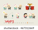 national grandparents day.... | Shutterstock .eps vector #467312669