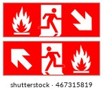 emergency fire exit downward  ... | Shutterstock .eps vector #467315819