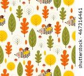 autumn forest background.... | Shutterstock .eps vector #467316461