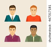 collection of men of different... | Shutterstock .eps vector #467317181