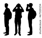 set of three silhouettes   man  ... | Shutterstock .eps vector #467320154