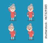 Old Lady. Grandma In 4...