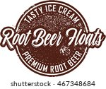vintage root beer float sign | Shutterstock .eps vector #467348684