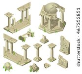 elements of the ancient temple... | Shutterstock .eps vector #467352851