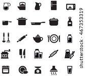 kitchen utensil icons | Shutterstock .eps vector #467353319