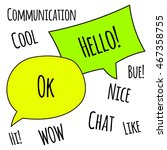 communication bubble speach ok...   Shutterstock .eps vector #467358755