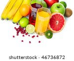 tropical fruits with glasses | Shutterstock . vector #46736872