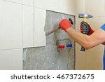 bathroom renovation   Shutterstock . vector #467372675