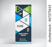 banner roll up design  business ... | Shutterstock .eps vector #467375615