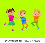 cute vector character child... | Shutterstock .eps vector #467377601