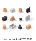 different box vector icons... | Shutterstock .eps vector #467397335
