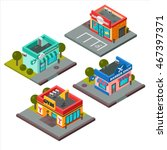 Vector Isometric Buildings Set...