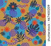 cute tropical seamless pattern...   Shutterstock .eps vector #467400209