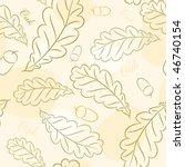 seamless wallpaper autumn oak | Shutterstock .eps vector #46740154