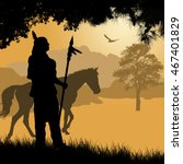 native american indian... | Shutterstock .eps vector #467401829