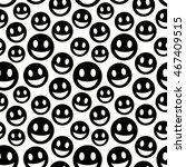Seamless Pattern With Smiles
