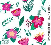 seamless floral pattern. spring ... | Shutterstock .eps vector #467414867