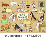 bad dogs set | Shutterstock .eps vector #467423909
