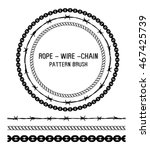 rope  wire and chain pattern...   Shutterstock .eps vector #467425739