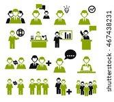 employee  employees icon set | Shutterstock .eps vector #467438231