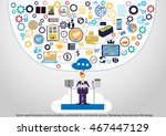 vector search business... | Shutterstock .eps vector #467447129