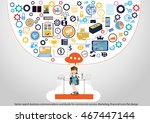 vector search business... | Shutterstock .eps vector #467447144