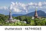 pagoda on the top of mountain...   Shutterstock . vector #467448365