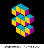 isometric number eight | Shutterstock .eps vector #467455649