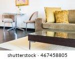 beautiful pillow on sofa...   Shutterstock . vector #467458805