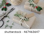 eco craft christmas gift boxes   Shutterstock . vector #467463647