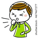 boy  cough | Shutterstock .eps vector #467467277
