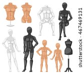 Vector Isolated Dummy Mannequi...