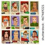 cartoon set of the twelve signs ... | Shutterstock .eps vector #467469221