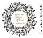 vintage delicate invitation... | Shutterstock .eps vector #467470505