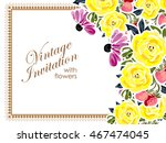 abstract flower background with ... | Shutterstock . vector #467474045