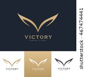 wings logo template. | Shutterstock .eps vector #467474441